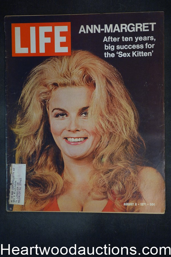 Life Aug 6, 1971 Ann-Margaret, General Patton, Spiro Agnew