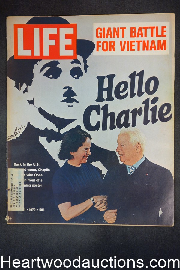 Life Apr 21, 1972 Charlie Chaplin returns, Vietnam, Alpha brain waves, Marlboro ad