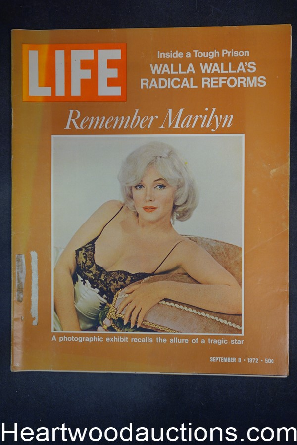 Life Sep 8, 1972 Marilyn Monroe, Joan Kennedy, Ringling Bros., Peace Corps