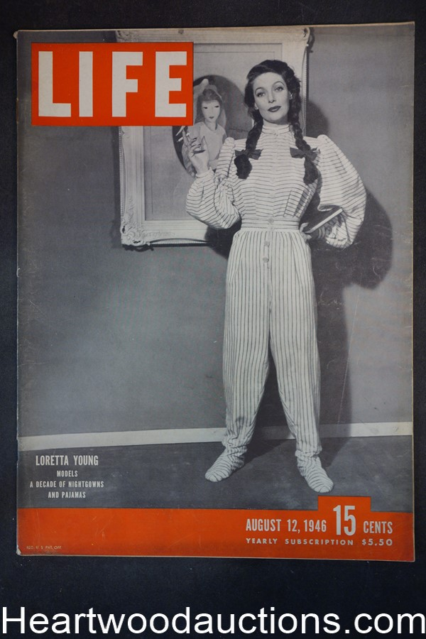 Life Aug 12, 1946 Loretta Young, Frank Lloyd Wright, WeeGee & Naked City