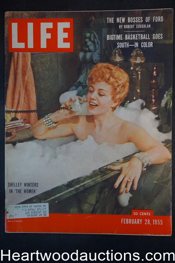 Life Feb 28, 1955 Shelly Winters, Basketball, Eisenhower
