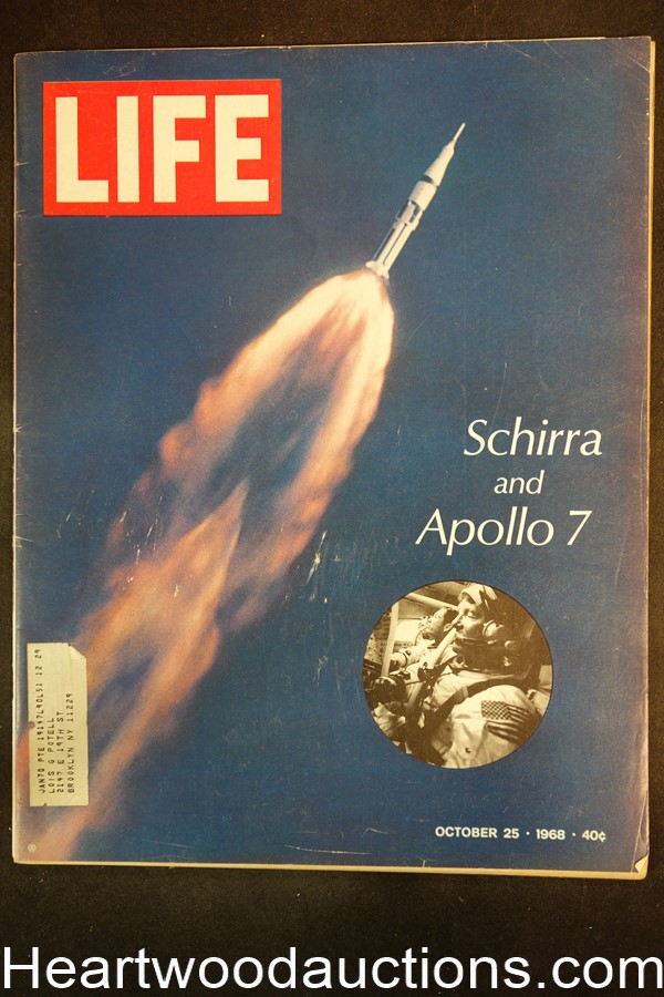 Life Oct 25, 1968 Schirra, Apollo 7, Mickey Mouse, James Earl Jones, Muhammad Ali