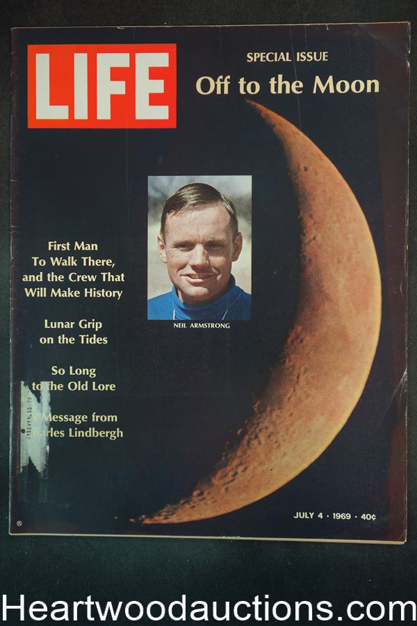 Life Jul 4, 1969 Neil Armstrong, Apollo, Moon Walk