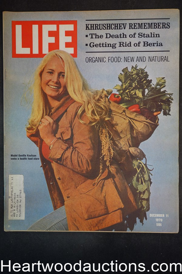 Life Dec 11, 1970 Health food, Gunilla Knutson, Nikita Khrushchev, newsstand 1938