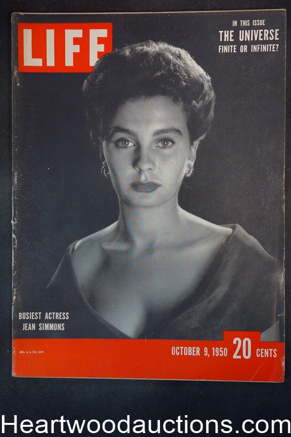 Life Oct 9, 1950 Jean Simmons