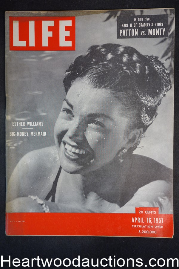 Life Apr 16, 1951 Esther Williams, Gen. Omar Bradley