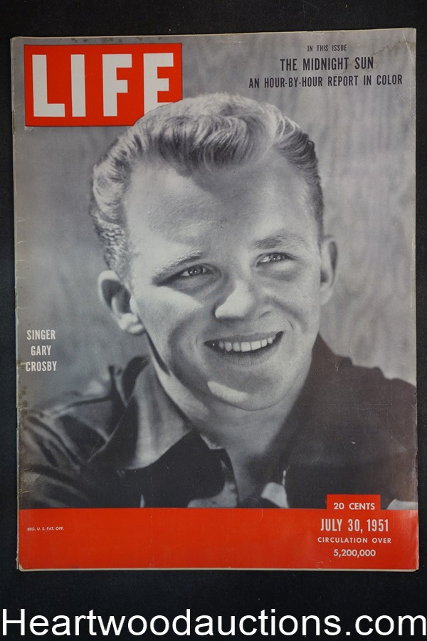 Life Jul 30, 1951 Gary Crosby, boxing and Jersey Joe Walcott