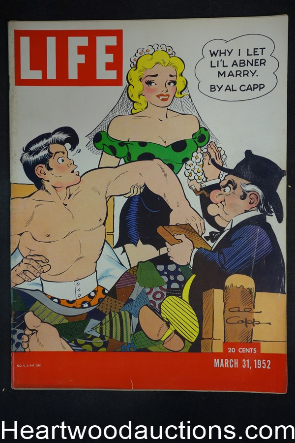 Life Mar 31, 1952 Li?l Abner and Al Capp, Cleveland Browns, Academy Award nominees