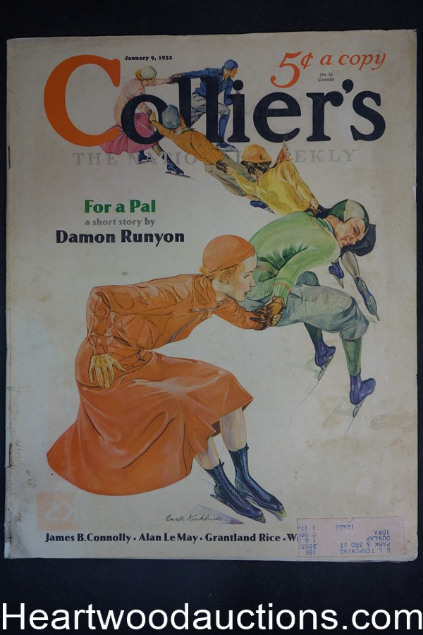 Collier's Jan 9, 1932 Damon Runyon, Duncan-Norton Taylor