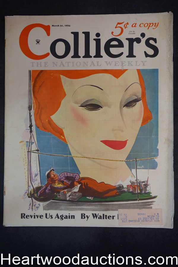 Collier's Mar 31, 1934 Ernest Haycox, artwork by C.C. Beall, Geroge Howe