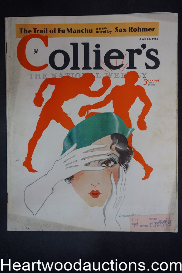 Collier's Apr 28, 1934 ?The Trail of Fu Manchu? by Sax Rohmer (part 1)