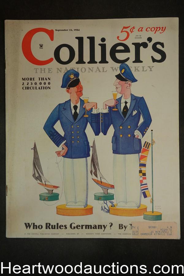 Collier's Sep 15, 1934 E. Phillips Oppenheim, Kathleen Norris