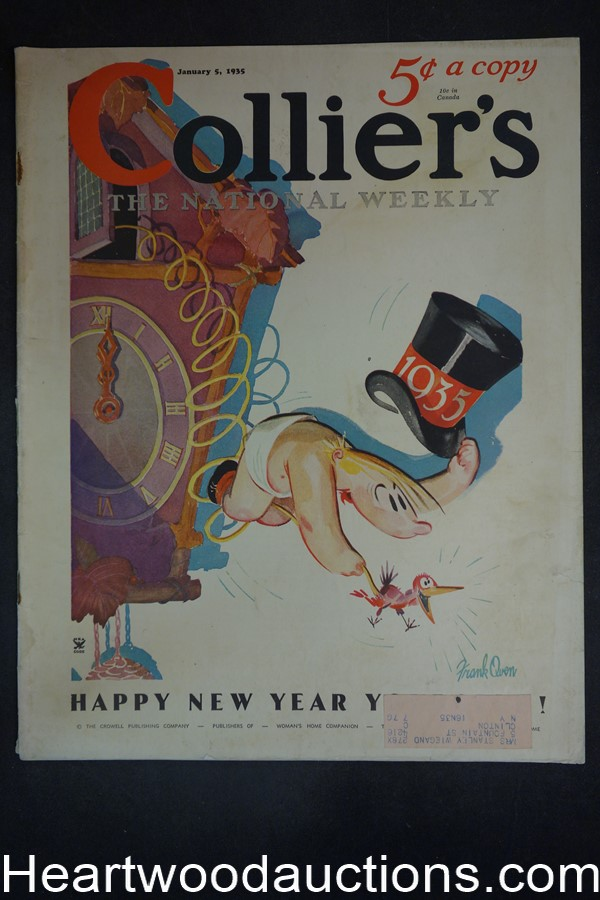 Collier's Jan 5, 1935 Ernest Haycox, Ray Tucker, Mimeograph ad