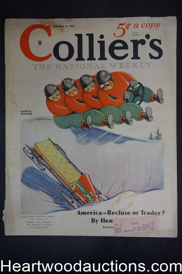 Collier's Feb 2, 1935 Ernest Haycox, Alan LeMay