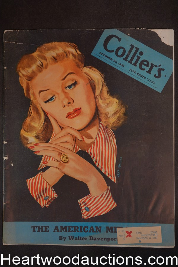 Collier's Oct 25, 1941 Abbott & Costello; Lucky Strikes, Mr. Moto, Agatha Christie