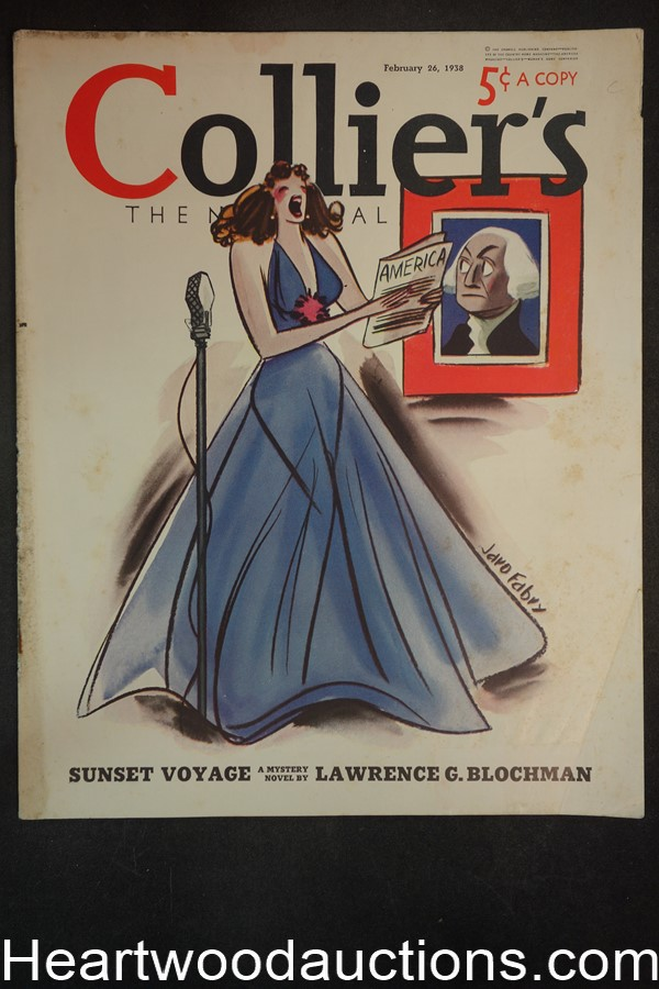 Collier's Feb 26, 1938 Jaro Fabry Cover