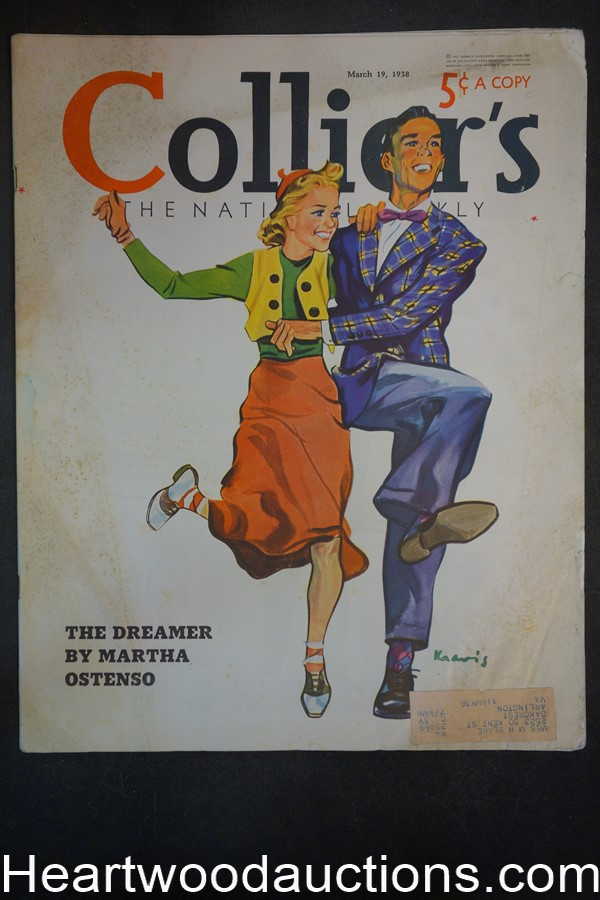 Collier's Mar 19, 1938 Ludlow Kravis Cover, Coca-Cola ad