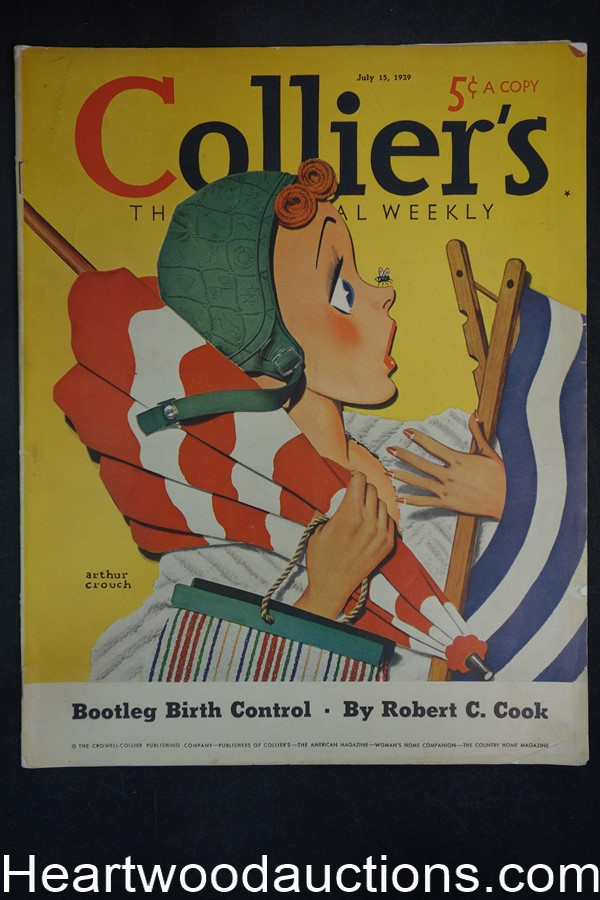 Collier's Jul 15, 1939 Arthur Crouch Cover