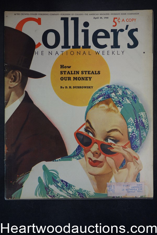 Collier's Apr 20, 1940 Jon Whitcomb Cover