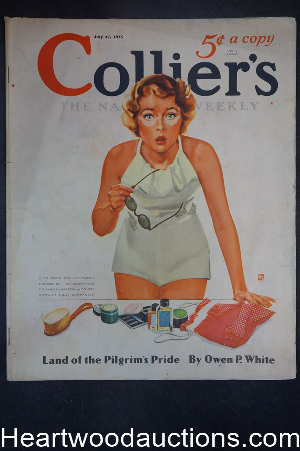Collier's Jul 27, 1935 Howard Butler Cover