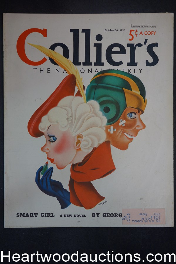 Collier's Oct 30, 1937 George F. Worts, Jorj Harris Cover