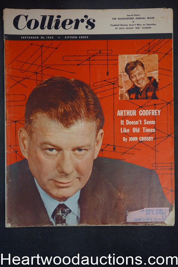 Collier's Sep 30, 1955 Jerry Elrich (Photo) Cover