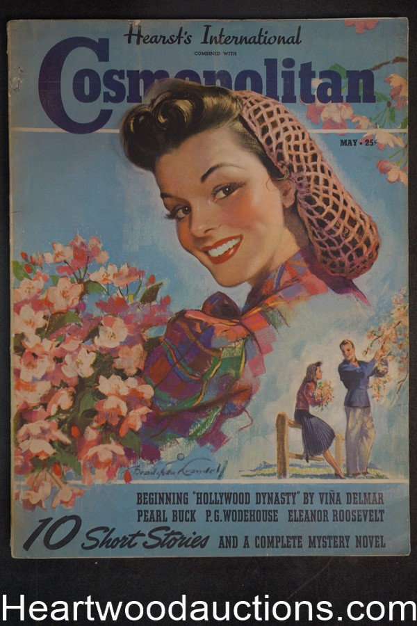 Cosmopolitan May 1939 Pearl S. Buck, P. G. Wodehouse, Eleanor Roosevelt
