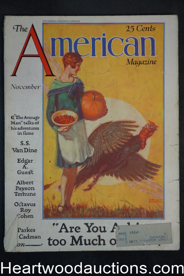 American Nov 1928 Thanksgiving, Albert Payson Terhune, New York Skyscrapers,