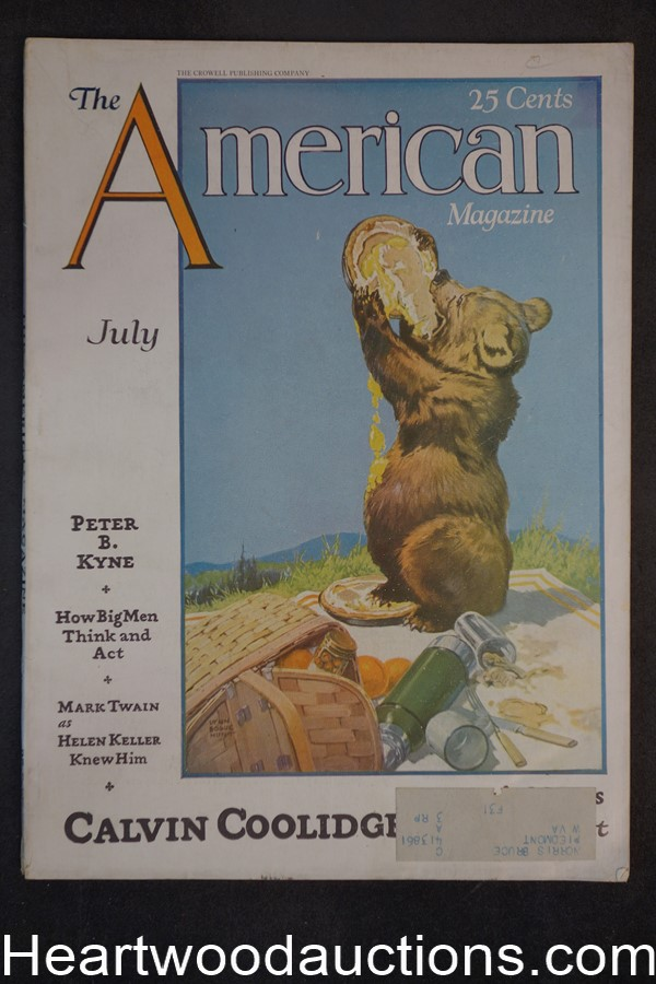 American Jul 1929 Mark Twain, Calvin Coolidge, Gypsies, Golf, Swimming, Zane Grey