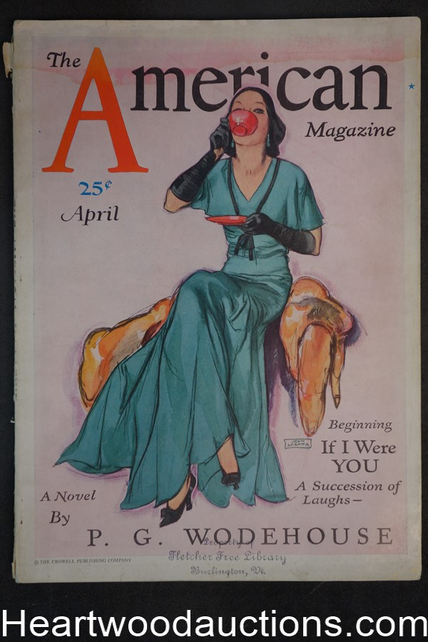 American Apr 1931 P.G. Wodehouse, Robert W. Chambers. ads for Chrysler, Wheaties