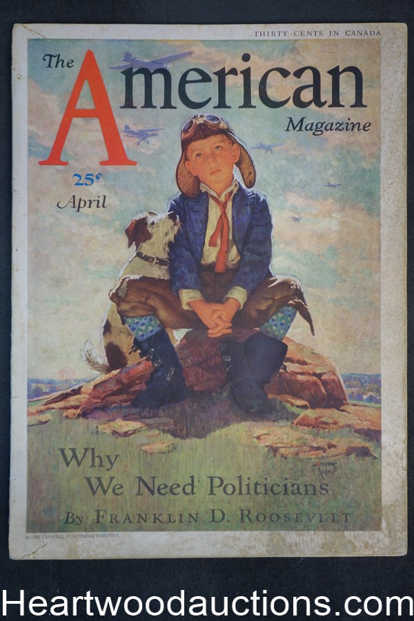 American Apr 1932 Franklin D. Roosevelt, Cannon-Ball Baker, Booth Tarkington, Golf