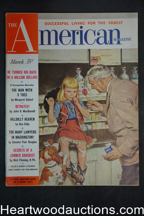 American Mar 1952 John D. MacDonald, Thomas Thompson, Robert Craig - High Grade