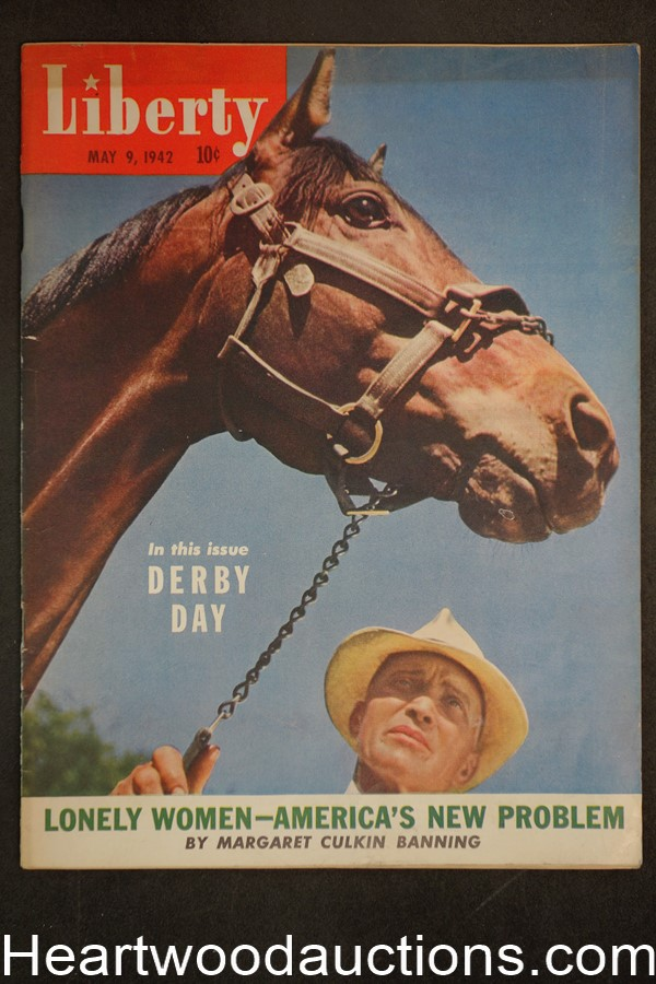 Liberty May 9, 1942 Tallulah Bankhead, Baseball, Kentucky Derby, Donald Duck