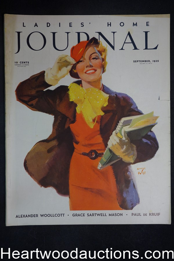 Ladies Home Journal Sep 1935 George Rapp cover