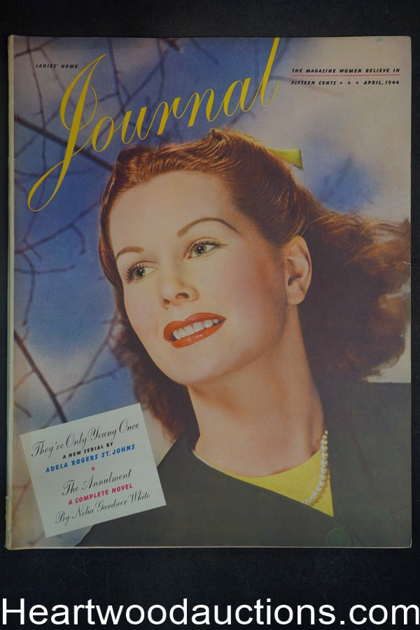Ladies Home Journal Apr 1944 Halleck Finley cover - High Grade