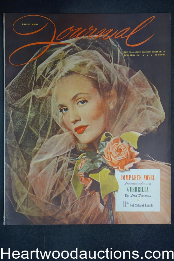 Ladies Home Journal Oct 1944 John Engstead cover - High Grade