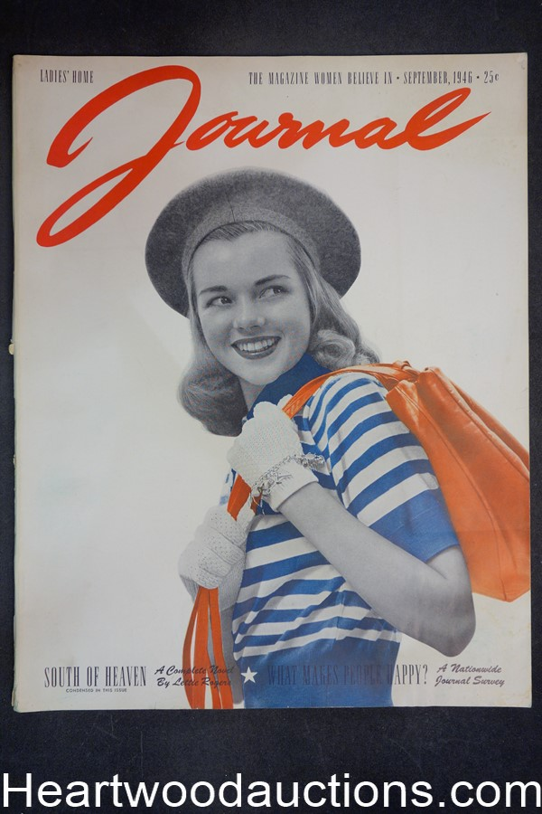 Ladies Home Journal Sep 1946 Wilhela Cushman Cover - High Grade