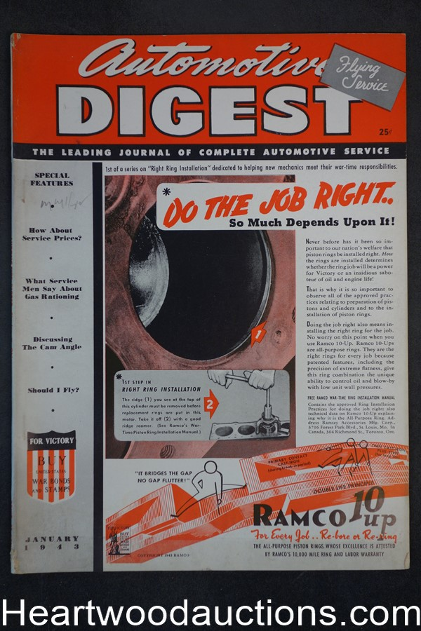 Automotive Digest Jan 1943 - High Grade