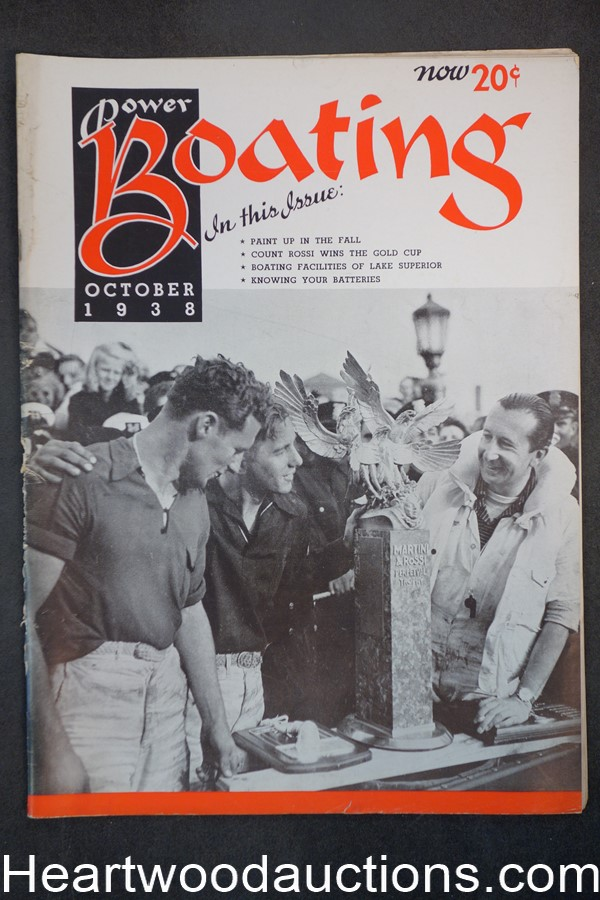 Power Boating Oct 1938