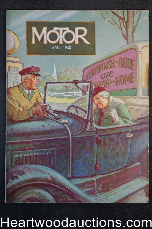 Motor Apr 1940 Robert Robinson cover - High Grade