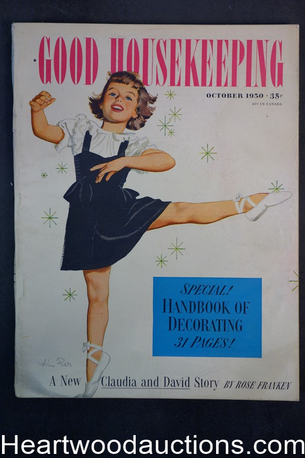 Good Housekeeping Sep 1950 Alex Ross cover
