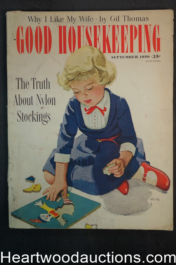 Good Housekeeping Oct 1950 Alex Ross cover - High Grade