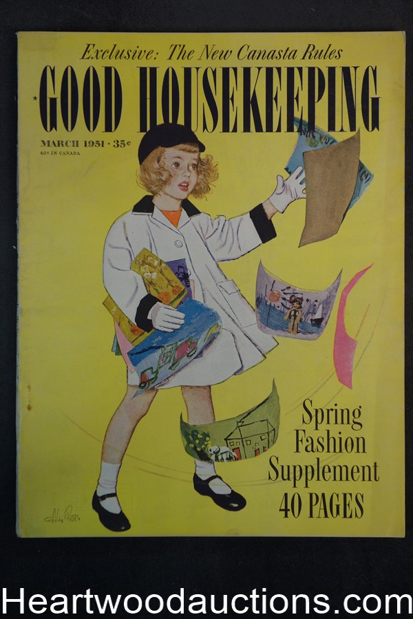 Good Housekeeping Mar 1951 Alex Ross cover - High Grade