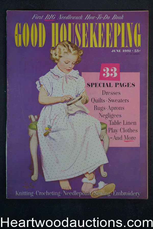 Good Housekeeping Jun 1951 Alex Ross cover - High Grade