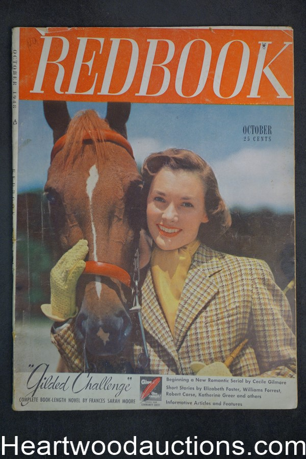 Redbook Oct 1948 Frances Sarah Moore, Peter Paul O'Mara