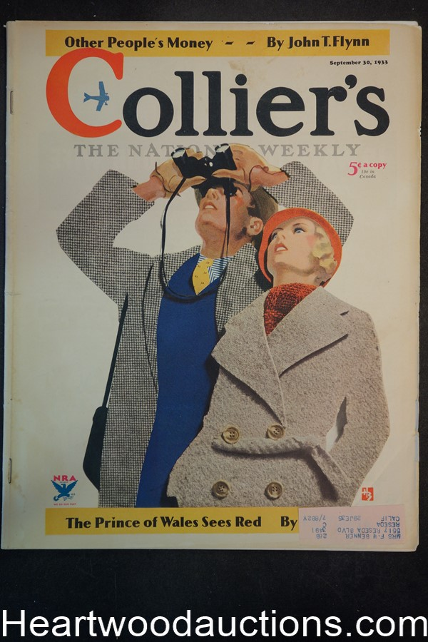 Collier's Sep 30, 1933 Howard Butler  cvr