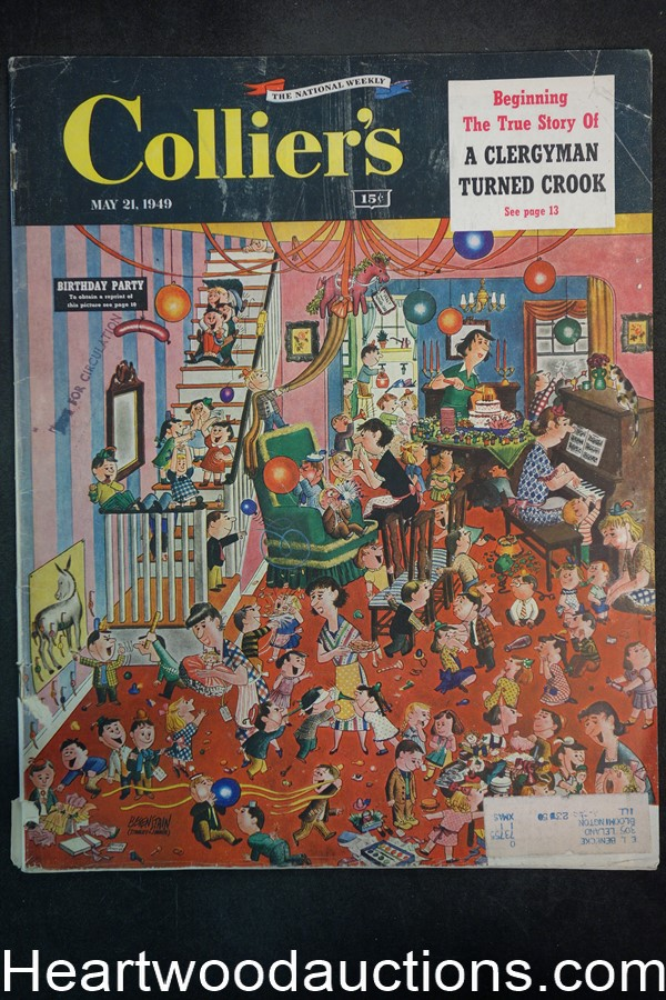 Collier's May 21, 1949 Stanley & Janice Berenstain  cvr