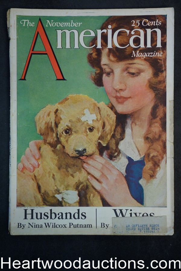 American Nov 1922 J. Knowles Hare cover