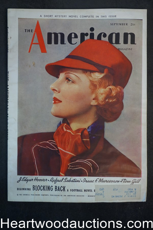 American Sep 1936 Katharine Haviland-Taylor story, J. Edgar Hoover article