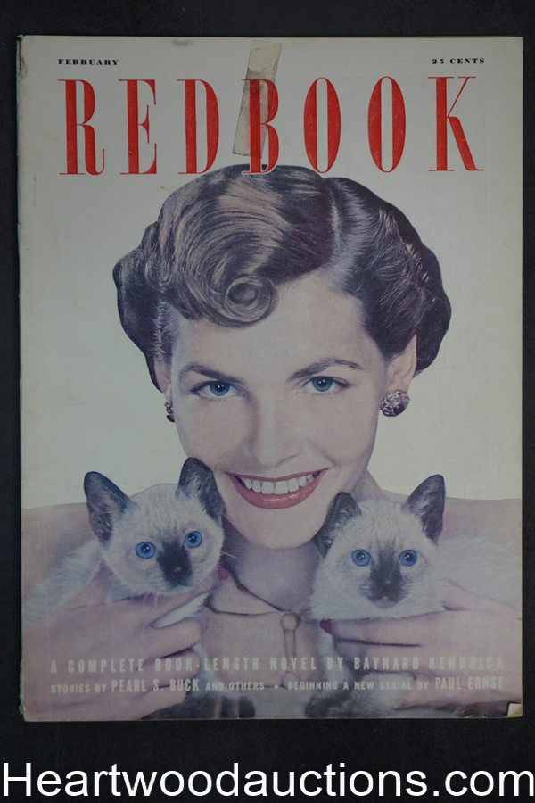 Redbook Feb 1949  Pearl S. Buck, Paul Ernest